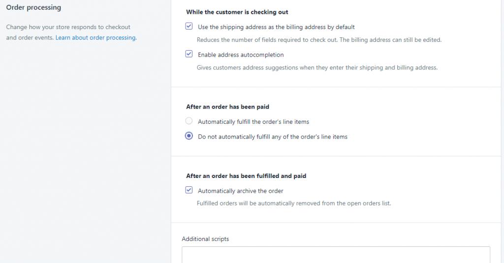 Shopify开店教程-Checkout付款流程设置