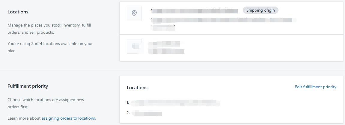 Shopify开店教程-Location库存位置设置