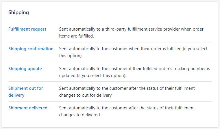 Shopify开店教程-Notifications通知管理设置