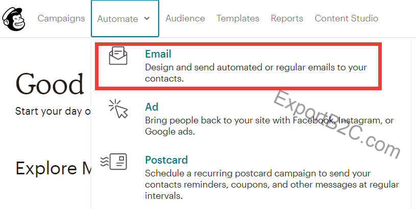 Mailchimp使用教程(3)-自动化邮件营销之Welcome邮件