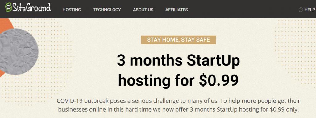 外贸建站主机3个月只需0.99USD?为应对疫情,Siteground给新用户带来了福利